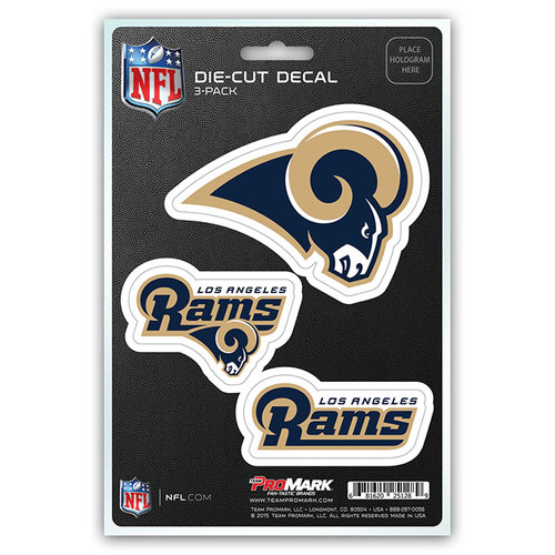 Los Angeles Rams Decal Die Cut Team 3 Pack