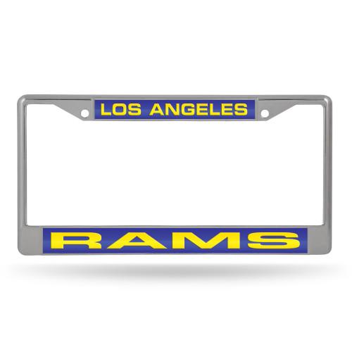 Los Angeles Rams License Plate Frame Laser Cut Chrome