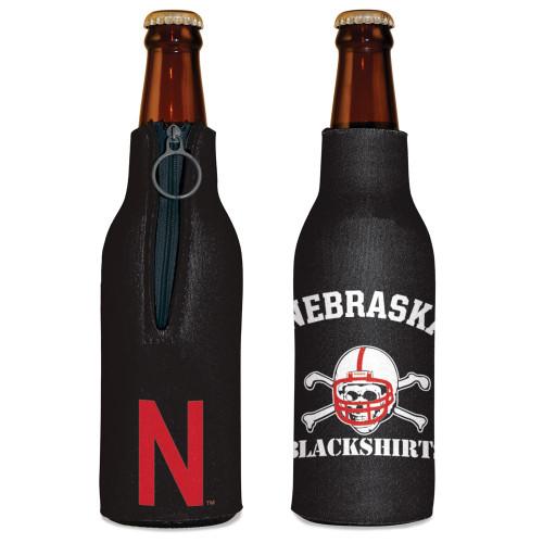 Nebraska Cornhuskers Bottle Cooler Blackshirt Design