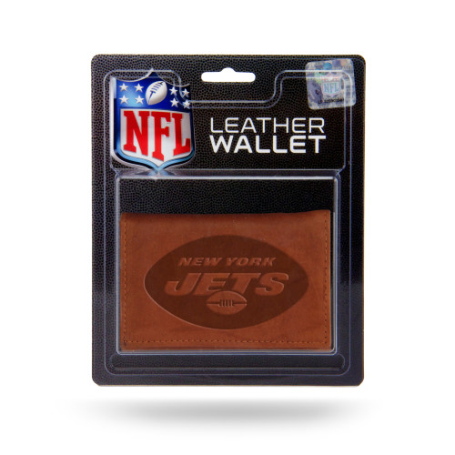 New York Jets Wallet Trifold Leather Embossed Alternate