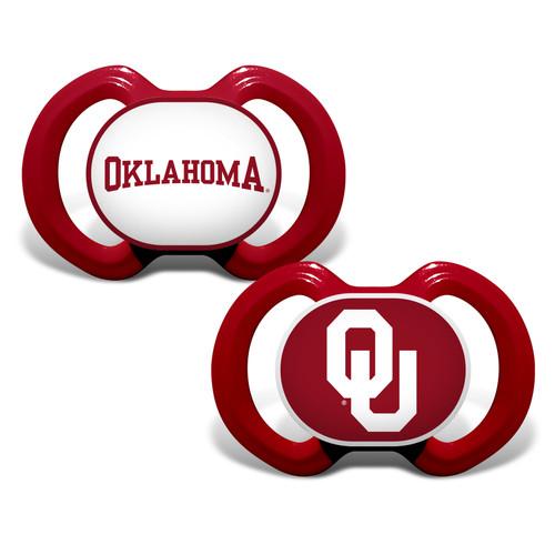 Oklahoma Sooners Pacifier 2 Pack Alternate
