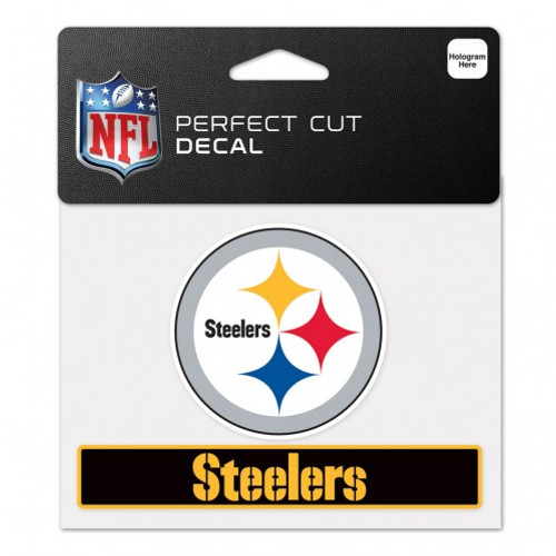 Pittsburgh Steelers Decal 4.5x5.75 Perfect Cut Color