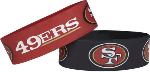 San Francisco 49ers Bracelets 2 Pack Wide Alternate