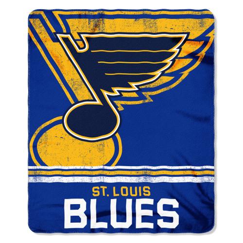 St. Louis Blues Blanket 50x60 Fleece Fade Away Design