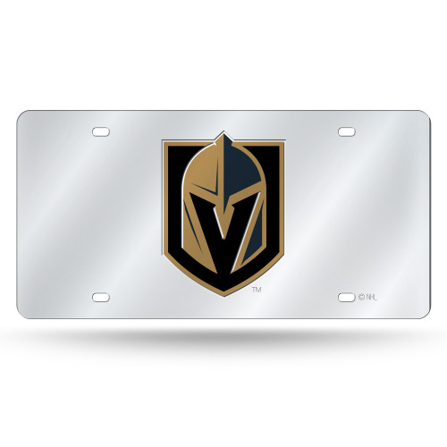 Vegas Golden Knights License Plate Laser Cut Silver