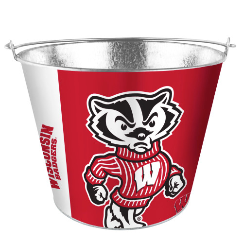 Wisconsin Badgers Bucket 5 Quart Hype Design