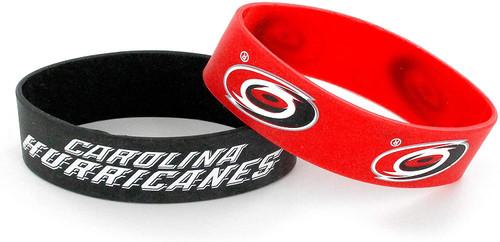 Carolina Hurricanes Bracelets 2 Pack Wide Alternate Design Special Order