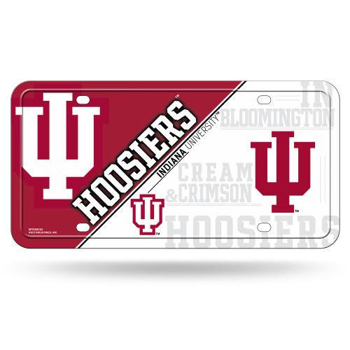 Indiana Hoosiers License Plate Metal Special Order