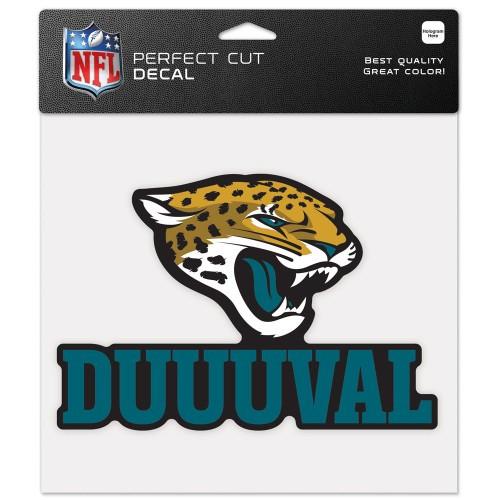 Jacksonville Jaguars Decal 8x8 Perfect Cut Color Slogan Design Special Order