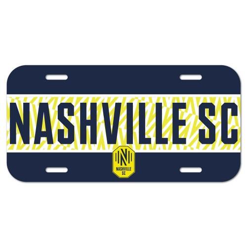 Nashville SC License Plate Plastic Special Order