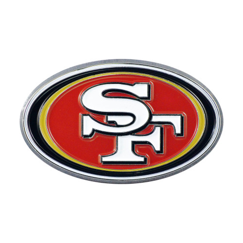 San Francisco 49ers Auto Emblem Premium Metal Chrome Color Special Order