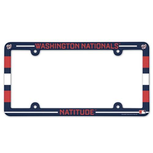 Washington Nationals License Plate Frame Plastic Full Color Style Slogan Design Special Order
