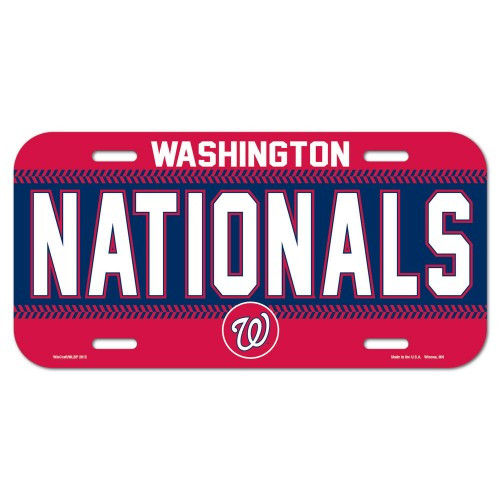Washington Nationals License Plate Plastic Special Order