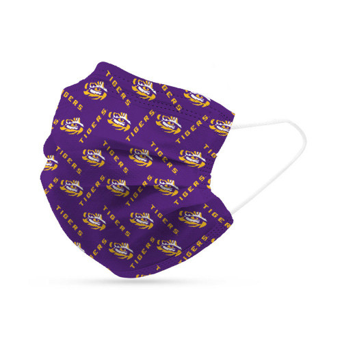 LSU Tigers Face Mask Disposable 6 Pack