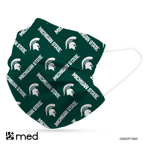 Michigan State Spartans Face Mask Disposable 6 Pack