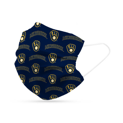 Milwaukee Brewers Face Mask Disposable 6 Pack