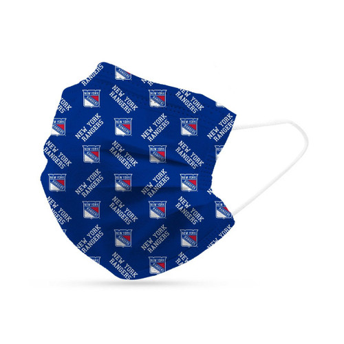 New York Rangers Face Mask Disposable 6 Pack