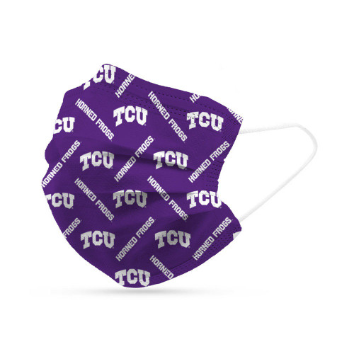 TCU Horned Frogs Face Mask Disposable 6 Pack