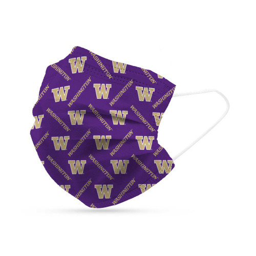 Washington Huskies Face Mask Disposable 6 Pack