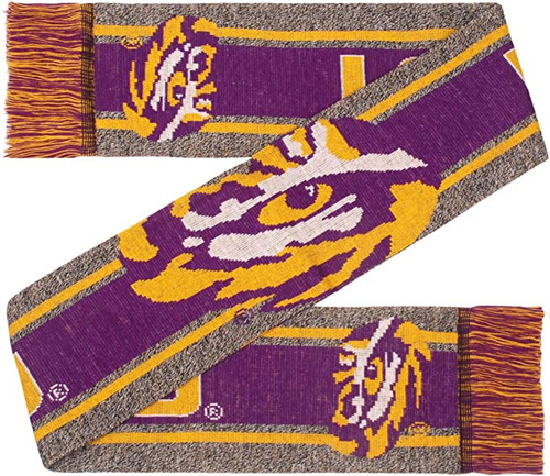 LSU Tigers Scarf Big Logo Wordmark Gray