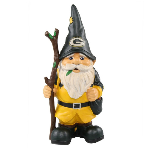 Green Bay Packers Gnome Holding Stick