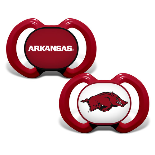 Arkansas Razorbacks Pacifier 2 Pack Alternate