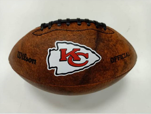 Kansas City Chiefs Football - Vintage Throwback - 9 Inches - Color Logo