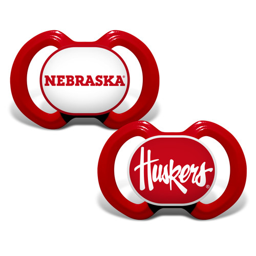 Nebraska Cornhuskers Pacifier 2 Pack Alternate