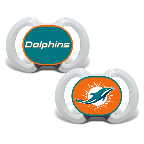 Miami Dolphins Pacifier 2 Pack