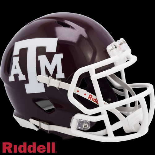 Texas A&M Aggies Helmet Riddell Replica Mini Speed Style Maroon