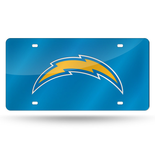 Los Angeles Chargers License Plate Laser Cut Blue
