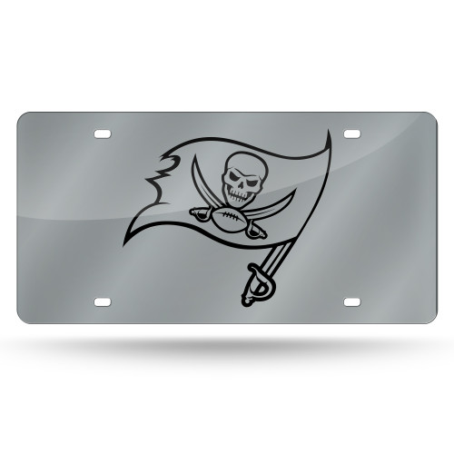 Tampa Bay Buccaneers License Plate Laser Cut Silver