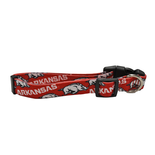 Arkansas Razorbacks Pet Collar Size L - Special Order