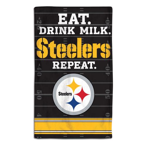 Pittsburgh Steelers Baby Burp Cloth 10x17