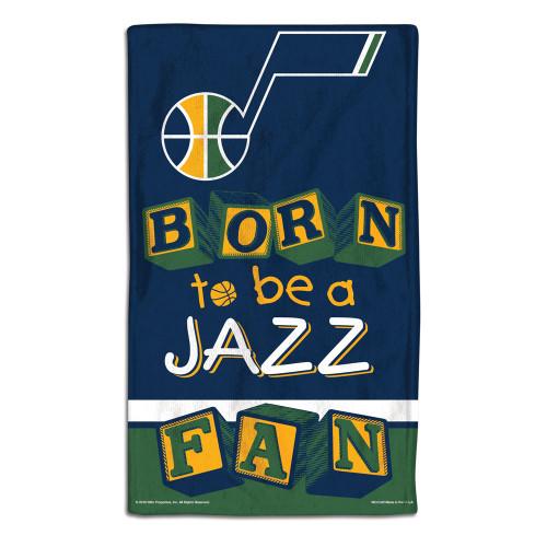 Utah Jazz Baby Burp Cloth 10x17 Special Order