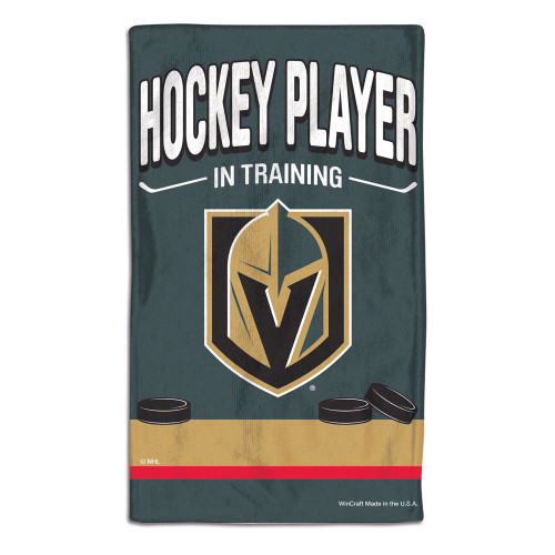 Vegas Golden Knights Baby Burp Cloth 10x17 Special Order
