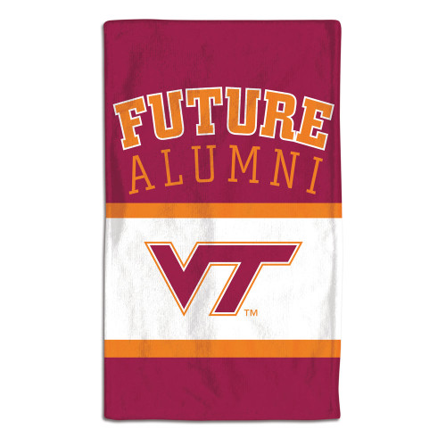 Virginia Tech Hokies Baby Burp Cloth 10x17 Special Order