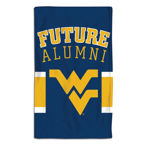 West Virginia Mountaineers Baby Burp Cloth 10x17 Special Order