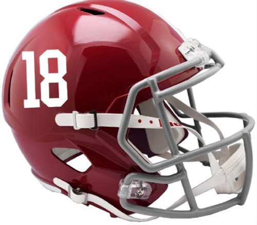 Alabama Crimson Tide Helmet Riddell Replica Full Size Speed Style #18