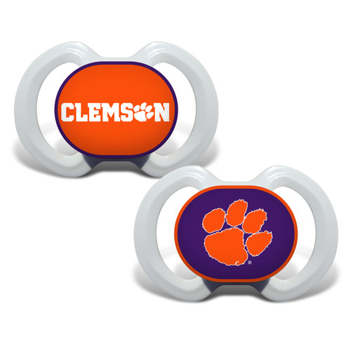 Clemson Tigers Pacifier 2 Pack Alternate