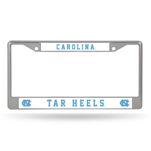 North Carolina Tar Heels License Plate Frame Chrome