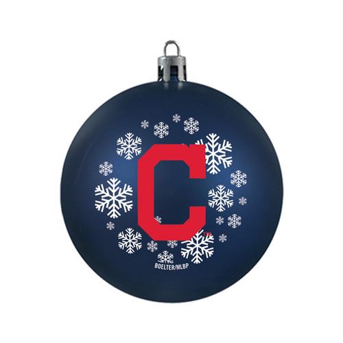 Cleveland Indians Ornament Shatterproof Ball Special Order