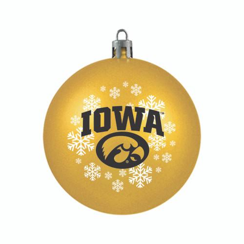 Iowa Hawkeyes Ornament Shatterproof Ball Special Order