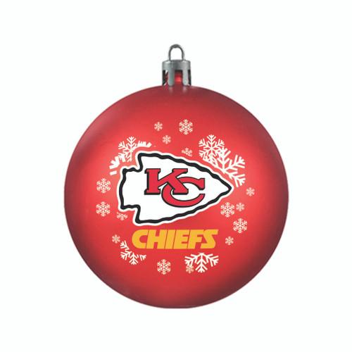 Kansas City Chiefs Ornament Shatterproof Ball Special Order