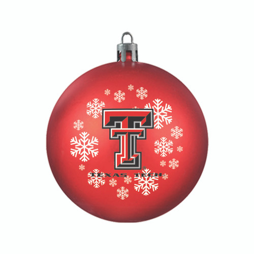 Texas Tech Red Raiders Ornament Shatterproof Ball Special Order