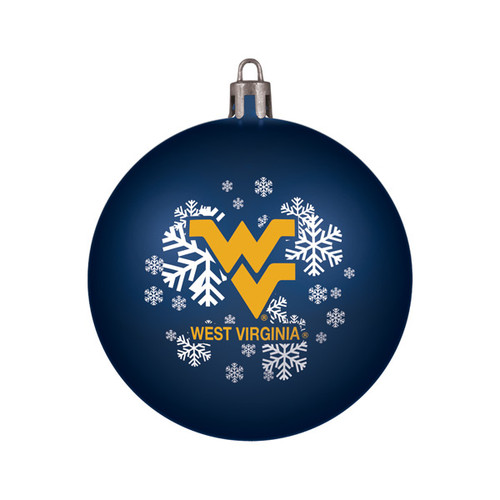 West Virginia Mountaineers Ornament Shatterproof Ball Special Order