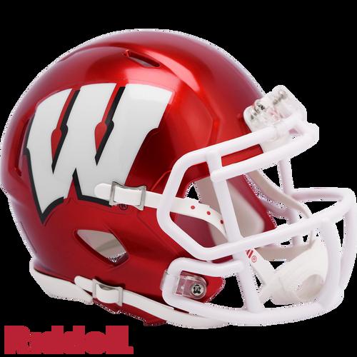 Wisconsin Badgers Helmet Riddell Replica Mini Speed Style FLASH Alternate