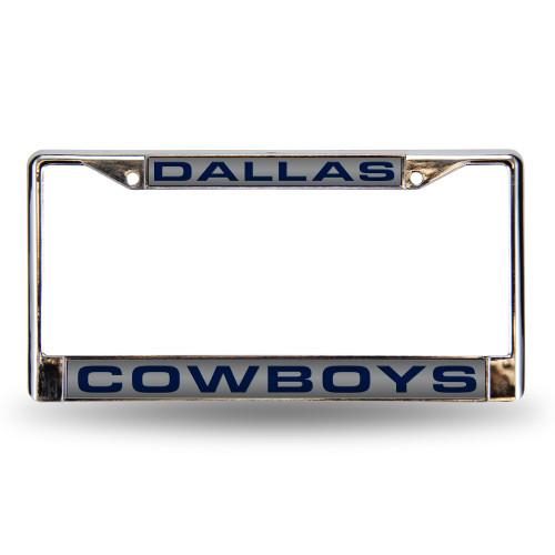 Dallas Cowboys License Plate Frame Laser Cut Chrome Silver