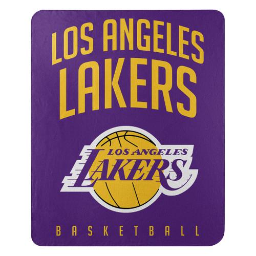 Los Angeles Lakers Blanket 50x60 Fleece Lay Up Design