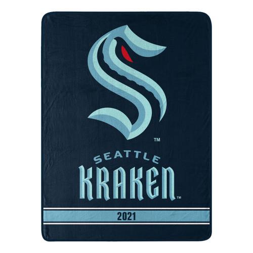 Seattle Kraken Blanket 46x60 Micro Raschel Breakaway Design Rolled